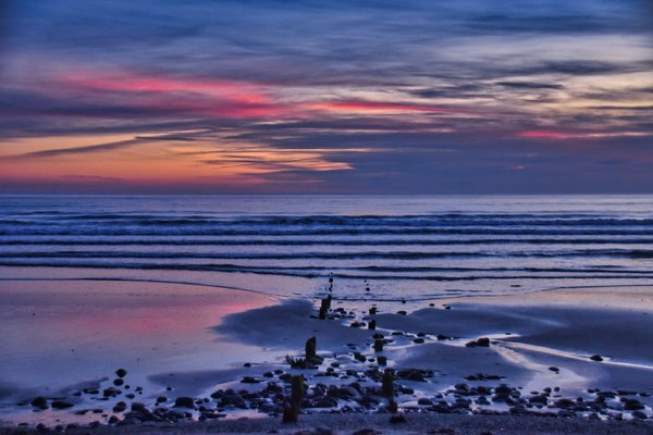 Sunset at Borth thumbnail