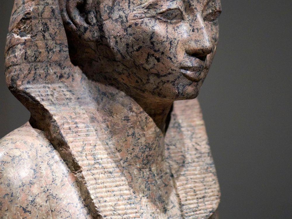 A stone statue of Hatshepsut