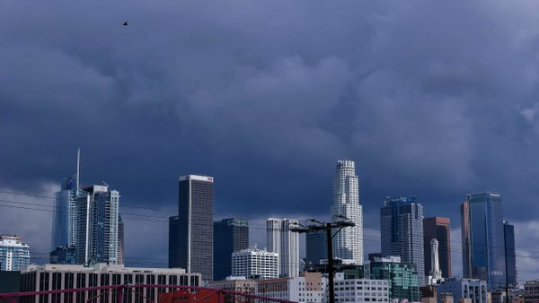 Downtown LA buildings at a gloomy day thumbnail