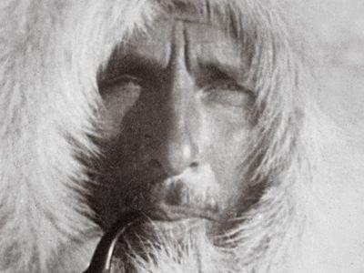 "Alfred Wegener, in Greenland, c. 1930, was ridiculed as having ""wandering pole plague."""