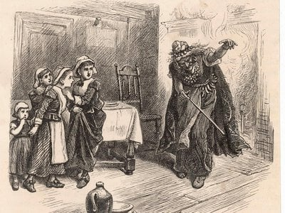 The pivotal accuser at the trials, Tituba, would go down in history as a purveyor of satanic magic. An 1880s engraving depicts her in the act of terrifying children.