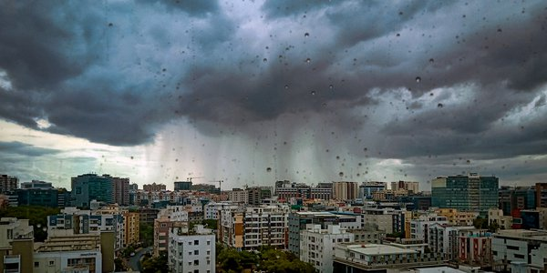 A massive storm over the city thumbnail