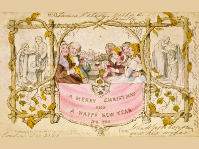 The Temperance Society objected to the card's inclusion of a child sipping wine.