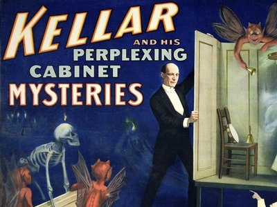 Strobridge Lithographing Company, Kellar and His Perplexing Cabinet Mysteries, 1894. Purchase, funds graciously donated by La Fondation Emmanuelle Gattuso.