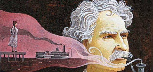 Mark Twain and Laura Wright