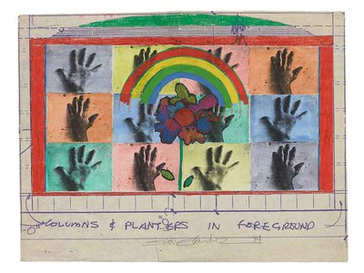 Mock Up for mural, 1994. Juan Sánchez papers, 1977-2005. Archives of American Art, Smithsonian