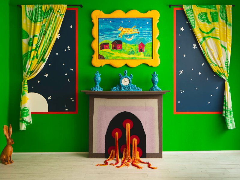 """Installation view of """"Goodnight House"""" exhibition"""
