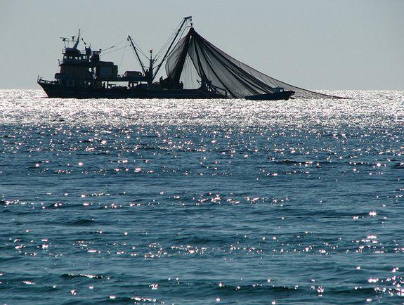 A fishing trawler off the coast of Turkey.