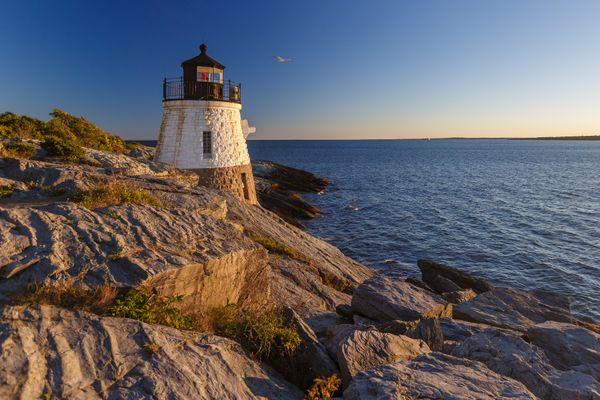 Historic Castle Hill Lighthouse in Newport, RI thumbnail