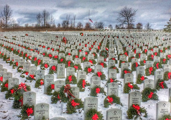 Honoring our Veterans on a snowy day thumbnail
