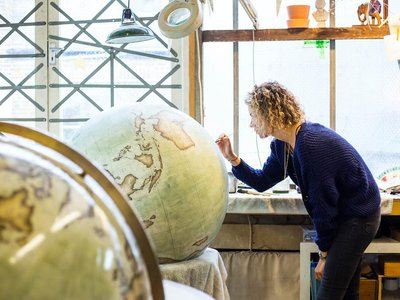 Bellerby & Co. is a studio in London that makes globes by hand.