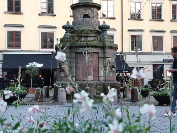 The well in front of the Nobel museum, in Gamla Stan, Stockholm, Sweden thumbnail
