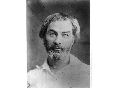 Walt Whitman photographed in 1854, two years after his serialized novella was first published anonymously.