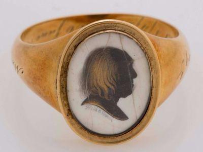 One of Bentham's memorial rings.
