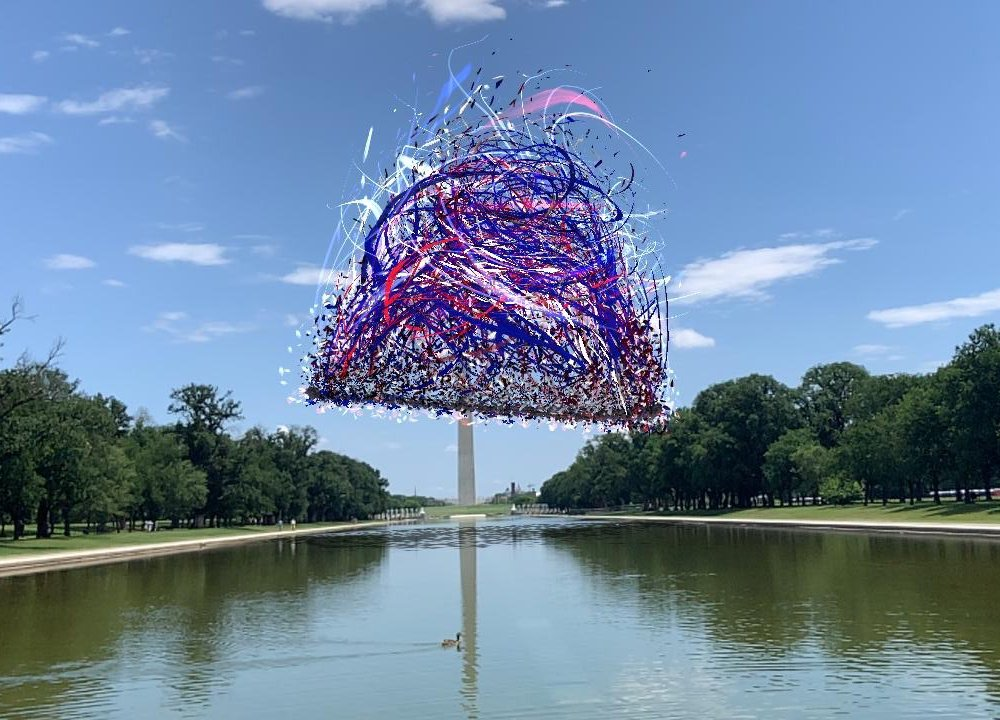 'Liberty Bell' AR artwork on the National Mall