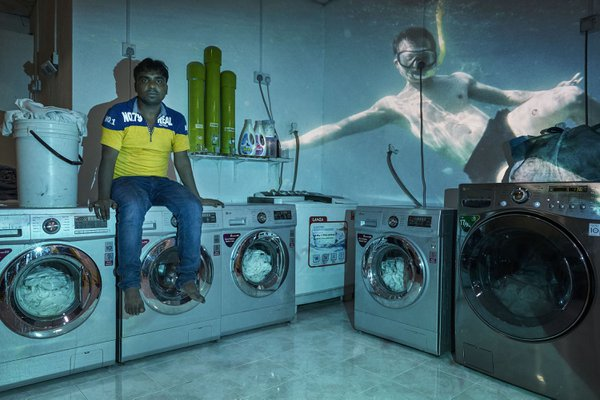 Foktul, 27 years old. He is from Bangladesh and two years ago he decided to move to the Maldives to open his own laundry. thumbnail