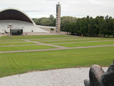 Overlooking the Song Festival Grounds from the cheap seats is a statue of Gustav Ernesaks, who directed the Estonian National Male Choir for 50 years.
