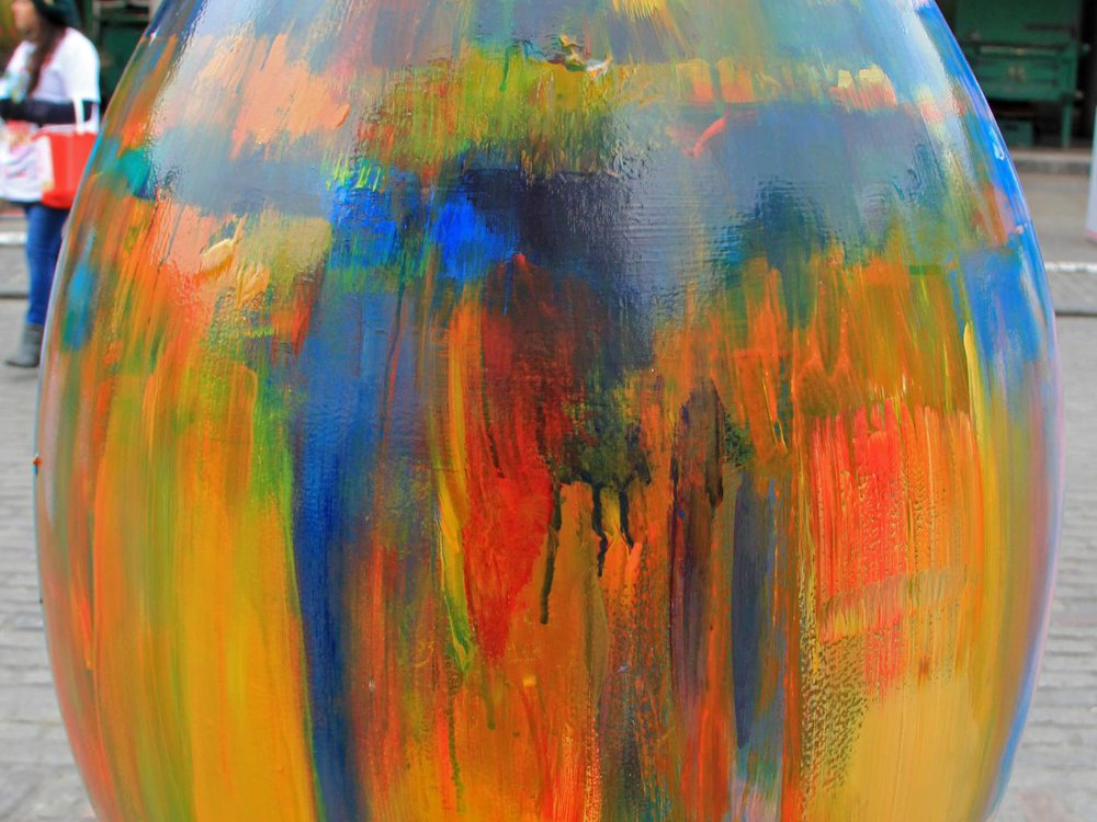 Tie Dye Egg by Lindsey Bull