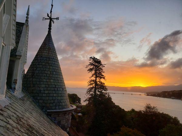 Sunrise over Menai Strait, Wales, UK thumbnail