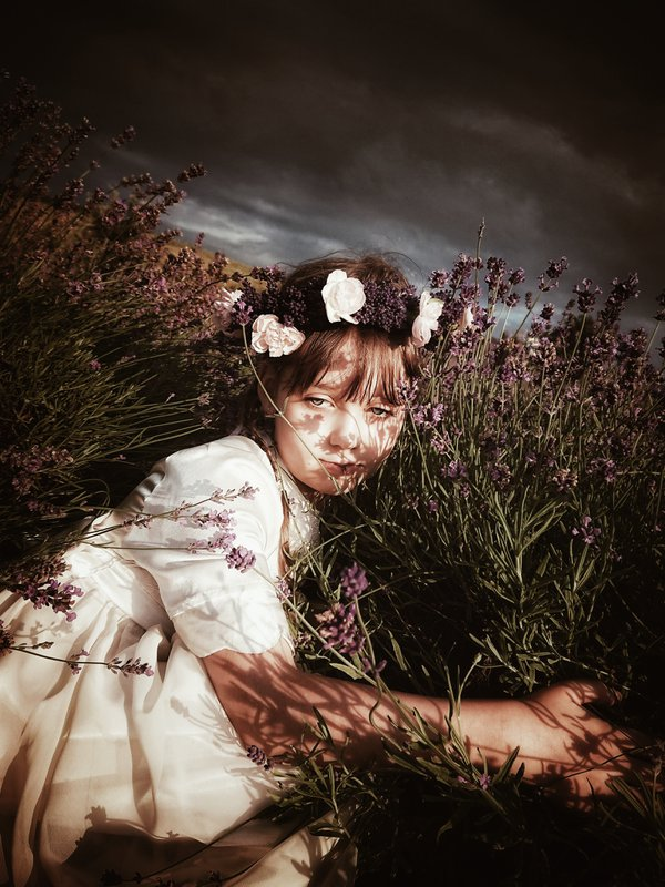 My niece in a lavender field thumbnail