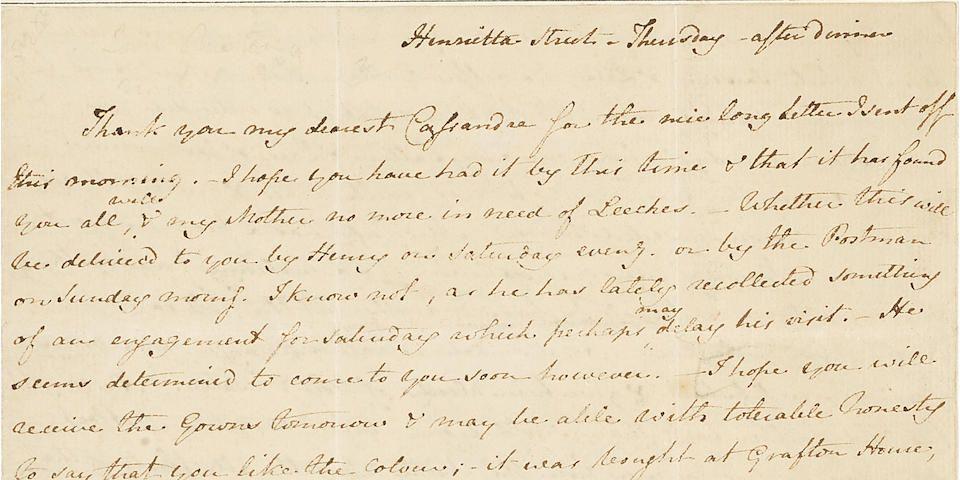 Jane Austen dentist letter
