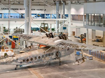 """The Sikiorsky JRS-1 """"was right in the middle of it,"""" Robinson says. """"She went out along with other airplanes from the (Navy) Utility Squadron One searching for the Japanese fleet."""""""