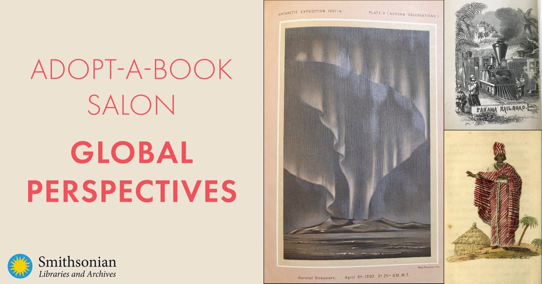 Graphic for Adopt-a-Book Salon: Global Perspectives event