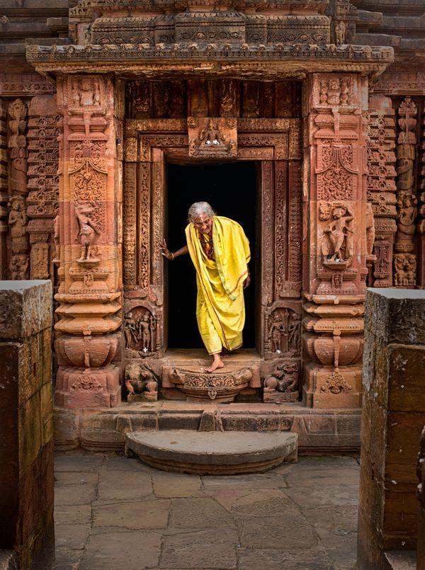 Pilgrim at a Temple Doorway thumbnail