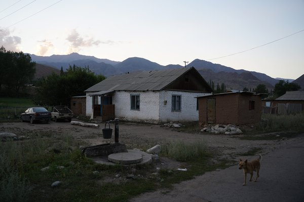 Kyrgyz Village at dawn thumbnail