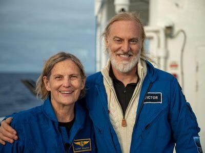 Kathy Sullivan, left, and Victor Vescovo, right