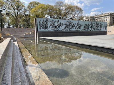Rendering of the National World War I Memorial's wall of remembrance, which is set to be installed in 2024