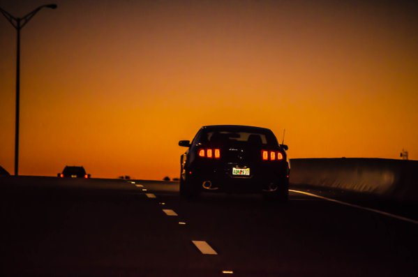 Cruising Mustang at Sunset thumbnail