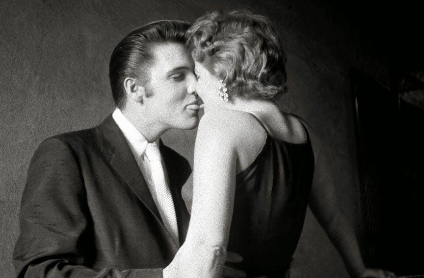 Elvis Presley kissing