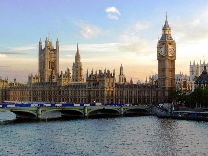 Parliament at sunset