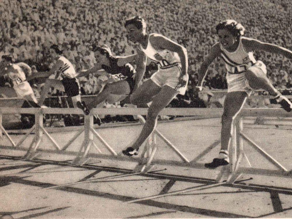 Babe Didrickson 80-meter hurdle