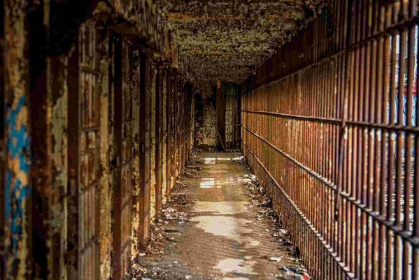 Down the corridor where jail cells were located. thumbnail