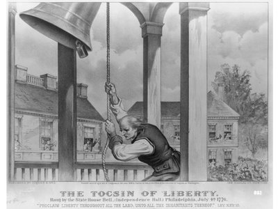 The Tocsin of liberty: rung by the state house bell, (Independence Hall;) Philadelphia, July 4th, 1776