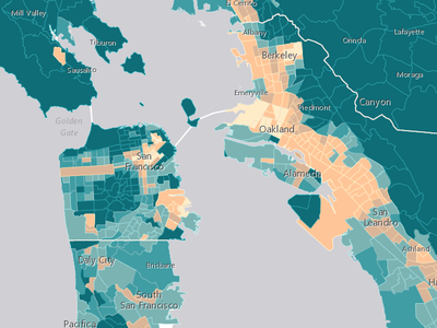 The Bay Area sees stark geographical divides between the rich and the poor