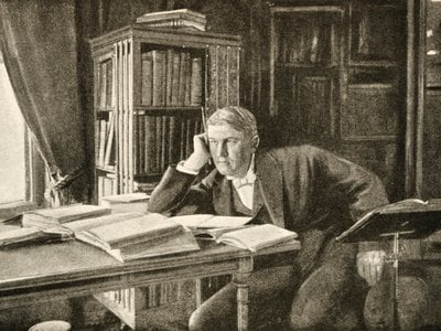 Thomas Edison's ideas fed the story that would become In the Deep of Time.