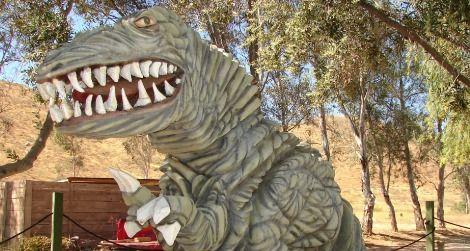 A very wrinkly dinosaur outside California's Jurupa Mountains Discovery Center