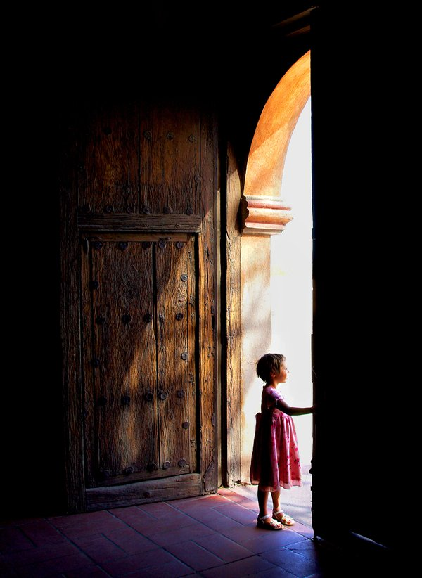 Children are the wave of the future and the door is their first passage they take out into the world. thumbnail
