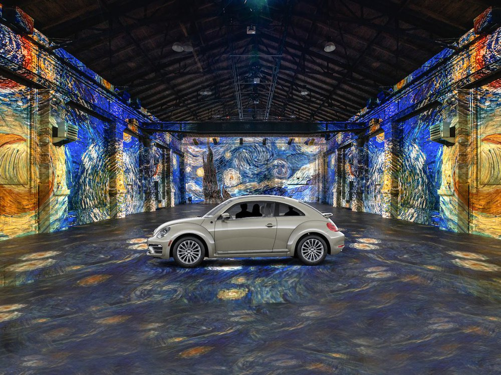 Drive-in Vincent van Gogh exhibition