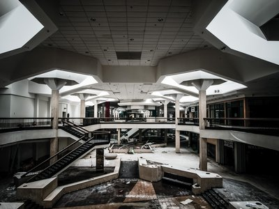 The Randall Park Mall in Ohio, photographed here in 2014, was opened in 1971 and abandoned in 2009. Amazon has built a new distribution center on the site.