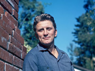 Actor Kirk Douglas, seen here around 1950, died Wednesday, February 5, at the age of 103.