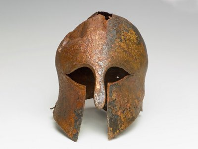 Researchers posit that the helmet's owner was a Greek soldier who fought in the fifth-century B.C. Persian Wars.