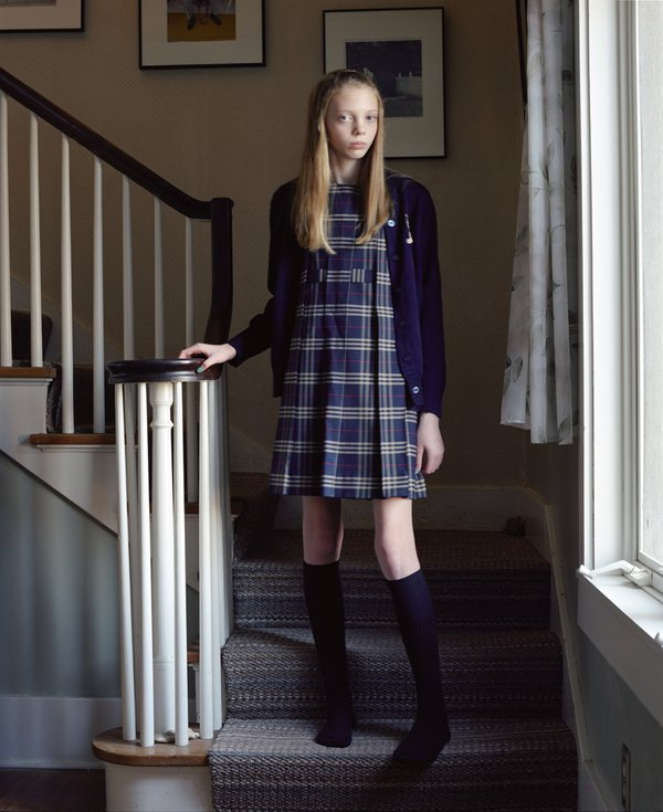 Girl in school uniform. thumbnail