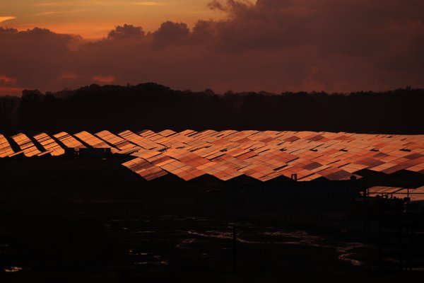 Solar Panel Sunset thumbnail