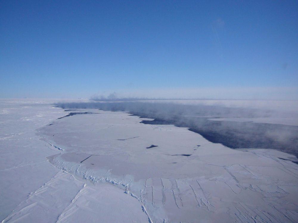 Antarctic ice hole