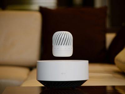 LG exhibited a new levitating speaker.