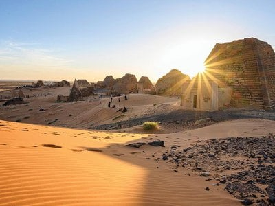 Meroe, 150 miles north of Khartoum, served as a necropolis for the kings and queens of Kush for close to 600 years.